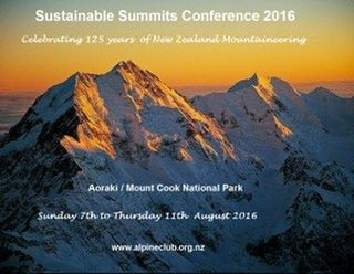 Sustainable Summits Conference- NZ to host 2016 Conference at Aoraki Mount Cook National Park